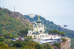 The Church of the Resurrection of Christ. (Church On The Rock), Foros, Crimea stock image
