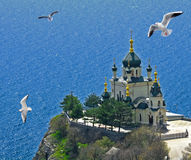 The Church of the Resurrection of Christ. (Church On The Rock), Foros, Crimea, Ukraine royalty free stock image