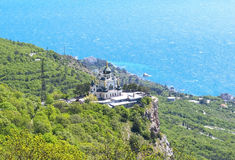 The Church of the Resurrection of Christ. (Church On The Rock), Foros, Crimea, Ukraine stock images