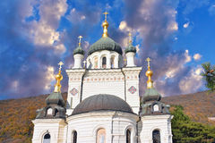 The Church of the Resurrection of Christ. (Church On The Rock), Foros, Crimea, Ukraine royalty free stock images