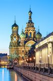 Church of the Resurrection of Christ Saviour on Spilled Blood. During white nights, St. Petersburg, Russia Stock Photography