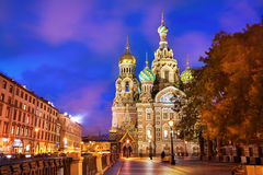 Church of the Resurrection of Christ, St. Petersburg, Russia. Church of the Resurrection of Christ (Saviour on Spilled Blood), evening, St. Petersburg, Russia Stock Photos