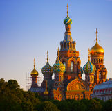 Church of the Resurrection Jesus Christ at St Pete. The Church of the Resurrection of Jesus Christ at St Petersburg in Russia also known as Savior-on-the-blood Stock Image