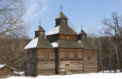 Church of the Resurrection of the Lord. Built in 1784 in the Rivne region in the museum Pirogovo Royalty Free Stock Photography