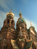 Church of the Resurrection of Our Saviour. St Petersburg, showing external details of mosaics and domes Royalty Free Stock Photos