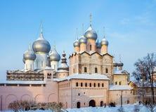 Church Of The Resurrection Rostov Kremlin. Church of the Resurrection Rostov Kremlin in winter Stock Photos