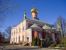 Church of the Resurrection in St. Petersburg cemetery Royalty Free Stock Images