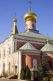 Church of the Resurrection in St. Petersburg cemetery Royalty Free Stock Image