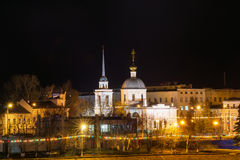 Church of the Resurrection of the Three Confessors night in Tver Stock Photography