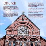 Church - Retro Clipart Illustration Stock Photography