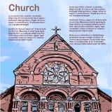 Church - Retro Clipart Illustration Stock Photography
