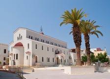 Church in Retymno. A big church in rethymnon on Crete Royalty Free Stock Photo