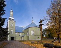 Church of Revelation of Christ in Prienai Stock Images