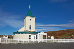 Church in Reykjahlid royalty free stock image