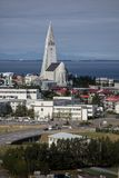 Church in reykjavik city Royalty Free Stock Photos