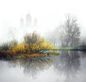 Church on the river Royalty Free Stock Images