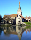Church and river Stock Photo