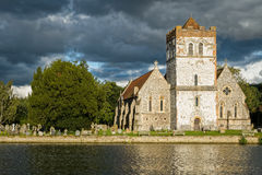 Church on River Thames, England. All Saints Church on the River Thames in Bisham village. Berkshire, England Royalty Free Stock Photo