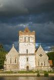 Church on River Thames, England stock photo