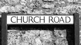 Church Road Street name plates Royalty Free Stock Photo