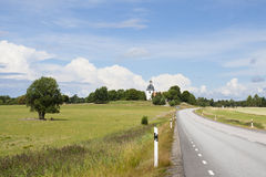 Church road sweden royalty free stock photo