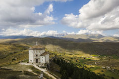 Church of Rocca Calascio Royalty Free Stock Images