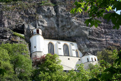 Church in the rock. Digital photo of the famous church in the rock in Idar-Oberstein in rhineland-palatinate - germany. Idar-Oberstein is known as the city of Stock Photos