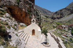Church in the rock. Agios Nikolaus church in the rock in crete, greece Royalty Free Stock Images