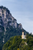 Church of the rock in the Alps Stock Photos