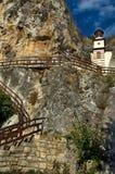 The church in rock at Basarbovo monastery, Bulgaria Stock Photos