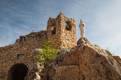 Church in the rock in Mijas in Spain Stock Photography