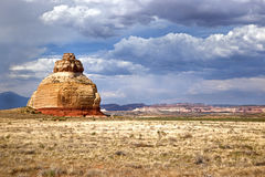 Church Rock near Moab Utah Royalty Free Stock Image