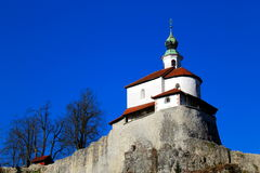 Church on a rock outcrop. Small church on a rock outcrop Royalty Free Stock Photo