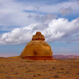 Church rock US highway 163 191 in Utah Royalty Free Stock Photo