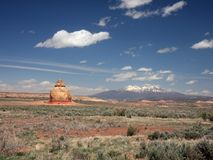 Church Rock in Utah Stock Photography