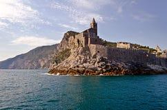 Church on the Rocks. Portovenere, Italy royalty free stock photo
