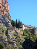 Church between the rocks - France Stock Image