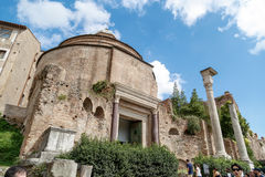 Church in Roman Forum Royalty Free Stock Photo