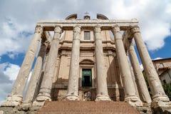 Church in Roman Forum Stock Image