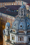 Church in Rome City view, Italy. Royalty Free Stock Photos