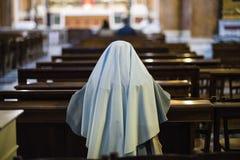 Church, Rome, nun pray in church royalty free stock images
