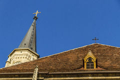 Church roof royalty free stock photo