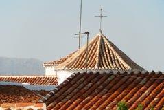 Church roof, Comares. Stock Photos