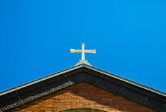 Church roof. The Cross on Church roof Stock Image