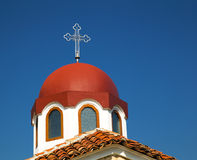 Church roof with cross Royalty Free Stock Photo