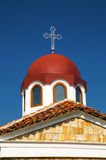 Church roof with cross Royalty Free Stock Images