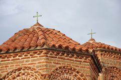 Church roof and facade Stock Photo