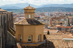 Church roof in the historic part of Girona Royalty Free Stock Image