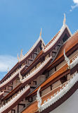 Church roof in the traditional Thai style Royalty Free Stock Image