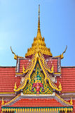 Church roof, wat Saikao Thailand Royalty Free Stock Image